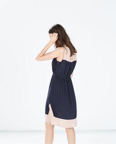 ZARA - WOMAN - COLOR BLOCK DRESS WITH BELT