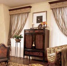 Window Treatment  One Curtain Rod Over Two Windows. | Home Decorating |  Pinterest | Window, Sarah Richardson And Sarah 101