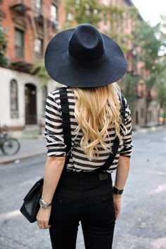 Blair from Atlantic-Pacific looking amazing in stripes #style #fashion
