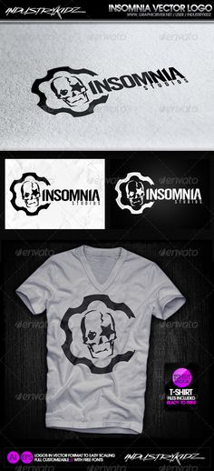 Insomnia Studios - Logo Design Template Vector #logotype Download it here: http://graphicriver.net/item/insomnia-studios-logo/2889114?s_rank=34?ref=nesto