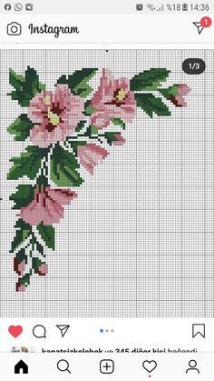 Small Cross Stitch, Beaded Cross Stitch, Cross Stitch Rose, Cross Stitch Borders, Cross Stitch Flowers, Counted Cross Stitch Patterns, Cross Stitch Charts, Cross Stitch Designs, Cross Stitching