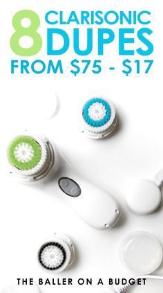 $169 for the Clarisonic Mia 2? I've found 8 comparable quality brush systems as cheap as $17! Click here for the budget beauty roundup. - www.theballeronabudget.com