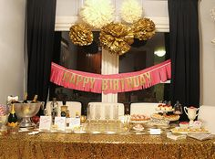 {champagne + desserts birthday party} so great!