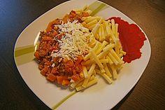 Nudeln mit Kürbis - Hackfleisch - Sauce (Rezept mit Bild)   Chefkoch.de