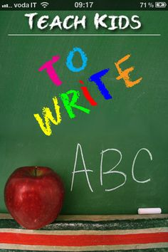 Teach Kids 2 Write ($0.99) teach your kids how to draw their letters, numbers and shapes! Using our state of the art point-to-point path drawing system, similar to connect the dots, your children will be able to trace each letter number and shape in any way they choose. The app will determine whether or not it was drawn correctly on the chalkboard, and either prompt them to retry or award them a gold star! Both upper and lower case letters.