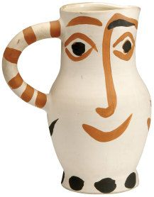 Most of Picasso's ceramics were produced at the Madoura pottery, run by the Ramie family in Vallauris in the south of France. There, Picasso used ceramic forms as canvases and experimented with combinations of form and decoration in his inimitable style