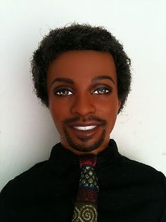 REPAINTED-OOAK-AFRICAN-AMERICAN-KEN-DOLL-Clothes-included