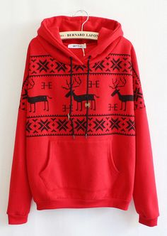 Fawn Hooded Fleece Sweater A 091110