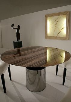 Show details for Round Stone Dining Table