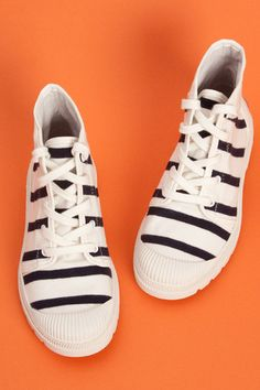 Jean Paul Gaultier Pour Pataugas Striped Shoes 36 from Opening Ceremony