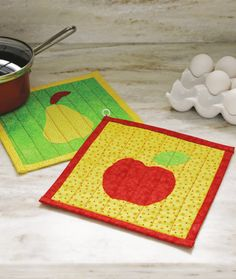 Raw-Edge Appliqué Hot Pad (Quilt Pattern for Beginners) - Craftfoxes