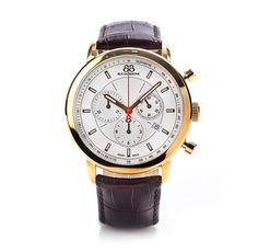 88 Rue Du Rhone 42mm Chronograph Gold Strap 87WA120045 - Mens Watches