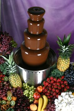 Chocolate fountain is always a hit. Chocolate fountain is always a hit. Chocolate fountain is always a hit. Chocolate fountain is always a hit. Chocolate Delight, Love Chocolate, Chocolate Coffee, Melting Chocolate, Chocolate Fondue, Chocolate Fountain Rental, Chocolate Fountain Recipes, Chocolate Fountains, National Dessert Day