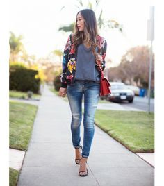 @Who What Wear - Outfit Inspiration from Song Of Style  Similar denim: Mother Looker Ankle Fray Jeans ($196)