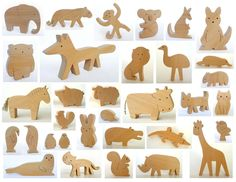 Organic wooden toy  Choose your own set of ANY 4 by mielasiela, $32,00