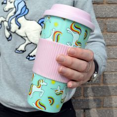 Amazon.com: Unicorn Travel Mug: Kitchen & Dining