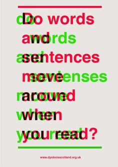 Great dyslexia poster by Calum Douglas
