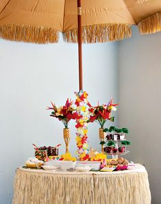 Bright & Cheerful Island Style Luau Party