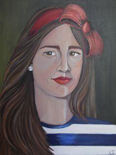 ακρυλικο ...το κοριτσι με την κοκκινη κορδελα Painters, Greek, Princess Zelda, Fictional Characters, Art, Craft Art, Kunst, Fantasy Characters