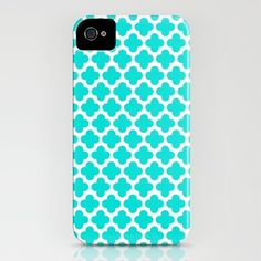 Aqua Simple Pattern iPhone Case by Haleyivers - $35.00