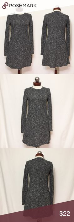 TOPSHOP lightweight marled gray sweater dress Excellent condition! Polyester, viscose. Lightweight knit with stretch. Bust 32 waist 31 hip 40 length 33 Topshop Dresses Long Sleeve