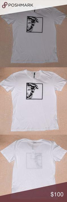 Versace Collection Mens Multi-Color Graphic Short Sleeve Crewneck T-Shirt Sz US M IT 50