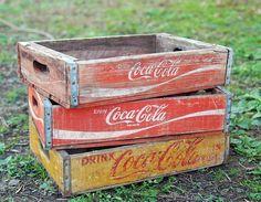"""Coca cola crates"" vintage , retro, and cool Coca Cola Drink, Pepsi, Coca Cola History, Coca Cola Vintage, Coca Cola Kitchen, Always Coca Cola, Menu Boards, The Fox And The Hound, Pizza Party"