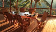 Estruturas de Bambú na Green School em Bali, Indonésia