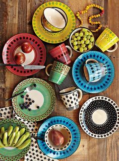 colorful dishware