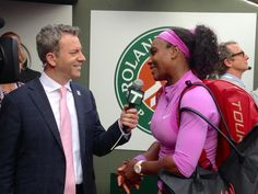 And @serenawilliams moves on @jon_wertheim  @TennisChannel #RG15onTC