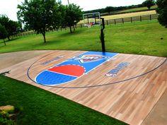 Custom basketball court design printed on MACtac StreetRap.
