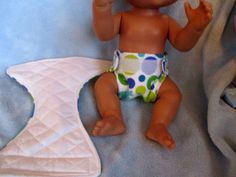 "13"" Baby Alive Others Handmade Cloth Velcro Diapers Set 2 Soft Flannel 