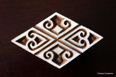 Hand Carved Indian Wood Textile Stamp Block- Art Nouveau Motif (12.75 USD) by charancreations