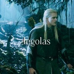 "It looks like he's turning to look at someone who just called his name, which is really ironic, considering it says ""legolas"" right in the middle of the picture."