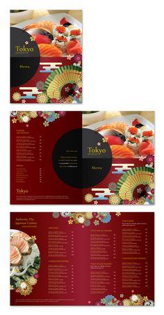 Sushi menu tri fold brochure sushi menu tri fold brochure japanese sushi restaurant menu template pronofoot35fo Gallery