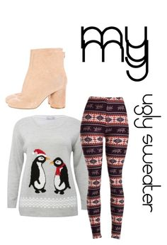 """""""my ugly sweater"""" by rosejones123 ❤ liked on Polyvore featuring M&Co and Maison Margiela"""