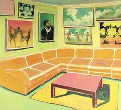 "dappledwithshadow: "" Anton Henning (b. 1964) | Interieur no. 128 """