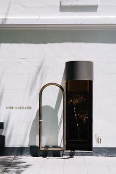 Christie Nicolaides — Richards and Spence Retail Interior Design, Modern Interior Design, Door Design, House Design, Entrance Signage, Exterior Wall Cladding, Lounge, Bathroom Design Luxury, Signage Design