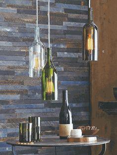 Roost Claret Bottle Pendant Lamps