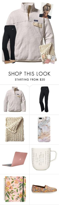 """Yall read the D!"" by erinleigh02 ❤ liked on Polyvore featuring Patagonia, NIKE, Serena & Lily, Recover, Incase, iittala, Rifle Paper Co and TOMS"