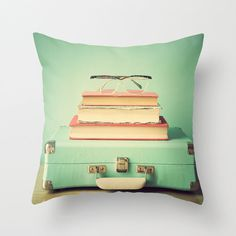 Pillow cover turquoise pillow mint pillow aqua pillow by Andrekart