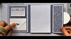 Intatwyne Designs Desktop Mini Note Pad Holder with Pen Slot Tutorial - YouTube