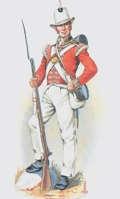British; 66th(Berkshire) Regiment of Foot, Grenadier Company, Private, Ceylon,1807 by C.C Stadden
