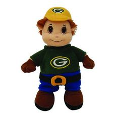"""Green Bay Packers 12"""" Plush Stuffed Mascot Visit our website for more: www.thesportszoneri.com"""