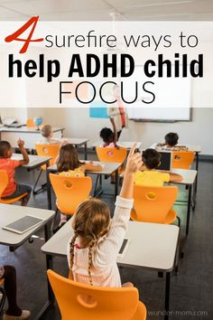 Try these surefire ways to help your ADHD child focus without medication Focus. It has been a keyword in our home since my son was around 2 years old. I find myself telling my children to Focus on what they are doing ALL. DAY. LONG. And not just my ADHD child, either - all of my children have times where they just need to slow down, take a breath, and start over while focusing on the task at hand. But that doesn't always mean they know HOW to do that - they need our help to lea