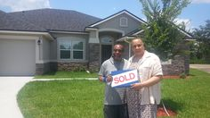 Sam and Rozann in their new home in Green Cove Springs!  Thanks for working with me...you guys were great!
