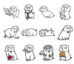 College Dog Stickers Set | Telegram Stickers