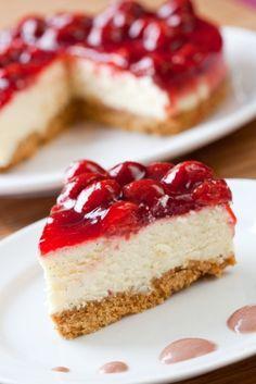 Easy No Bake Cheesecake Recipe at MissHomemade.com