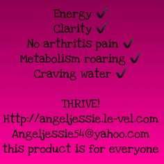 Thrive by le-vel gave me my life back!