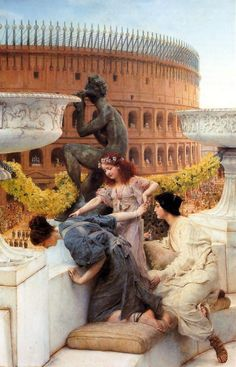 """""""The Colosseum"""" (1896) by Sir Lawrence Alma-Tadema (1836-1912). .."""